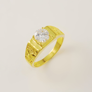 Wholesale Price Great Promotion Charm 24k Gold Cover Rings For Men/Women Wedding