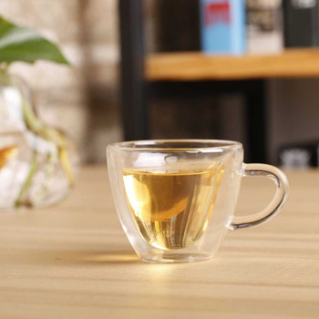 Heart Love Shaped Transparent Glass Double Wall Milk Glass Cup Coffee Tea Milk Beer Cup Juice Mug Heat Resistance Drinkware