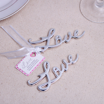 (15pcs/Lot)+Silver-Finished Silver Bottle Opener Silver Wedding Favors&Party Favor Gift Present For Guest